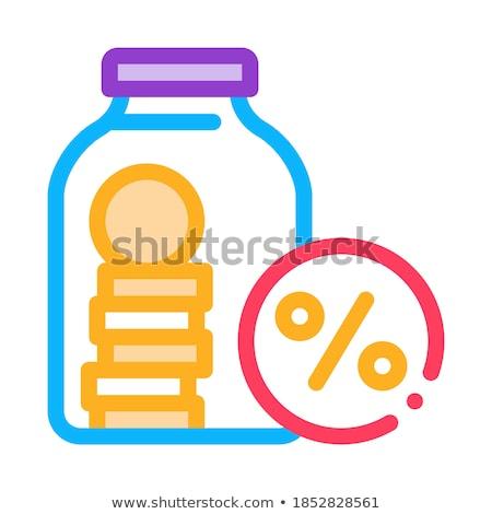 Bonus Glass Jar Icon Vector Outline Illustration Stock photo © pikepicture