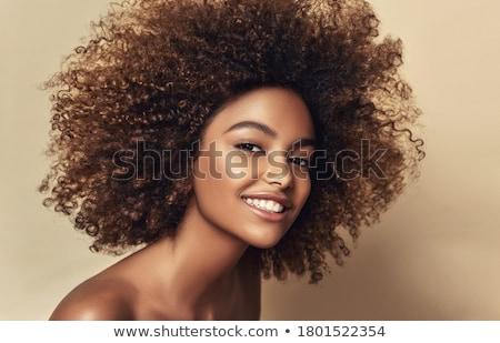Retrato feliz positivo africano americano mulher Foto stock © vkstudio