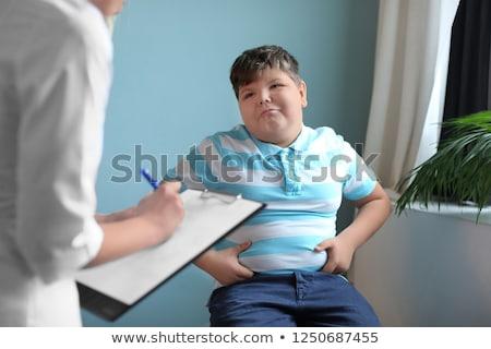 Dziecko otyłość epidemia nieletni cukrzyca zdrowia Zdjęcia stock © Lightsource