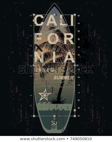 Camiseta sello gráfico deporte desgaste tipografía Foto stock © Andrei_