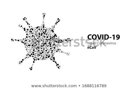 Coronavirus banner virus particelle medici mondo Foto d'archivio © SArts