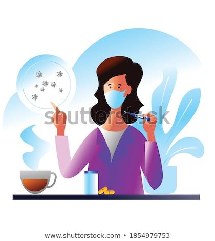 Coronavirus pills vector illustration. Pandemic concept medicine illustration. Coronavirus outbreak. Stock photo © ikopylov