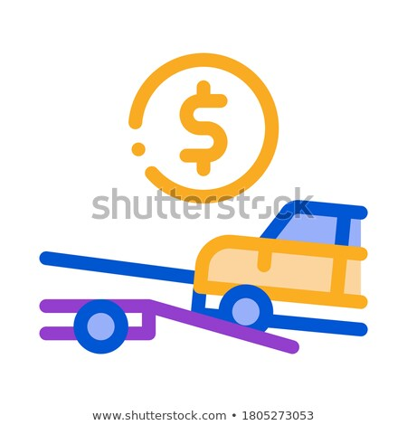 Evacuate Car Coin Icon Vector Outline Illustration Stock photo © pikepicture