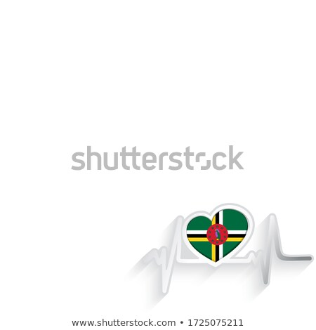 National flag of the Dominicana in the shape of a heart and the inscription I love Dominicana. Vecto Stock photo © butenkow