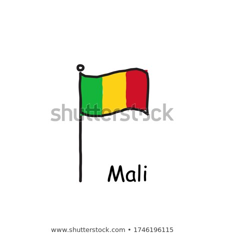 Mali flag and hand on white background. Vector illustration Stock photo © butenkow