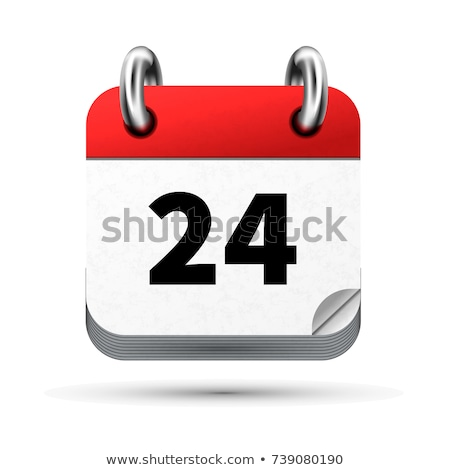 Bright realistic icon of calendar with 24 february date isolated on white Stock photo © evgeny89