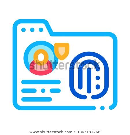 Empreintes icône vecteur illustration signe Photo stock © pikepicture