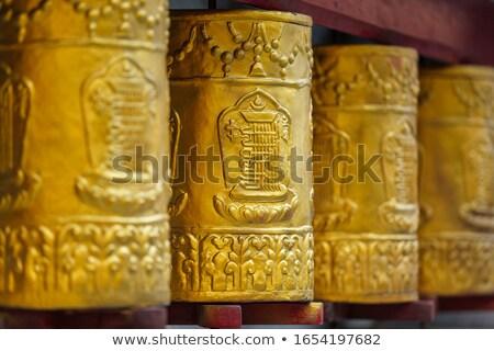 Prayer wheels in Tabo Monastery Stock photo © dmitry_rukhlenko
