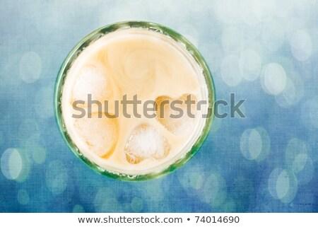 heart pattern ice block in milk tea stock photo © ansonstock