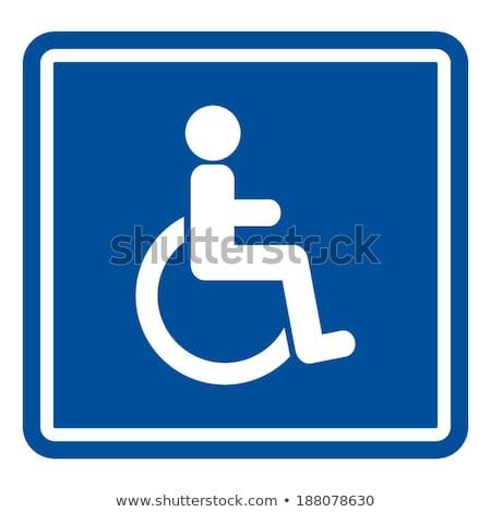 handicap · znak · drogowy · niebo · podpisania · niebieski - zdjęcia stock © trgowanlock