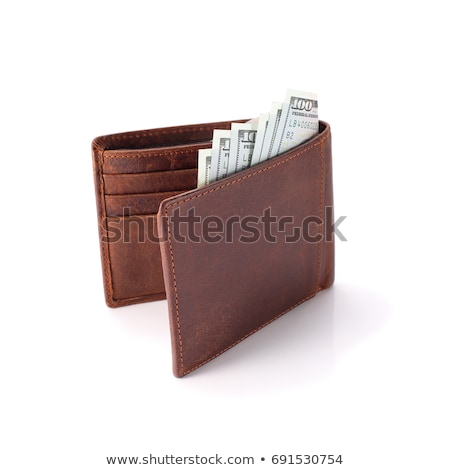 Money in wallet isolate on white background. Stock photo © borysshevchuk