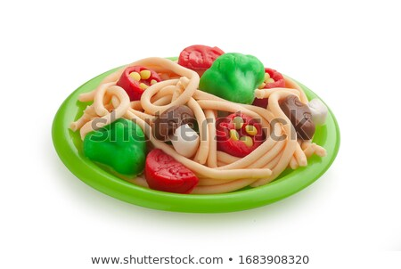 Plasticine of the toy and plates Stock photo © RuslanOmega