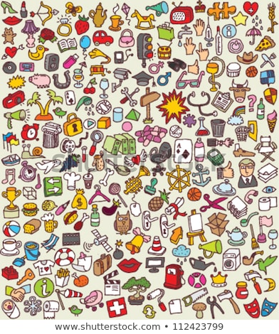 Colorful Cartoon Icon Collection Stock photo © VOOK