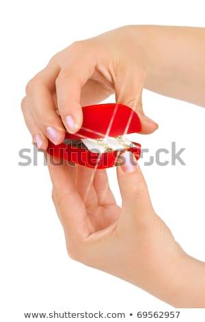 vermelho · pedras · recipiente · secar · sujo - foto stock © ruslanomega