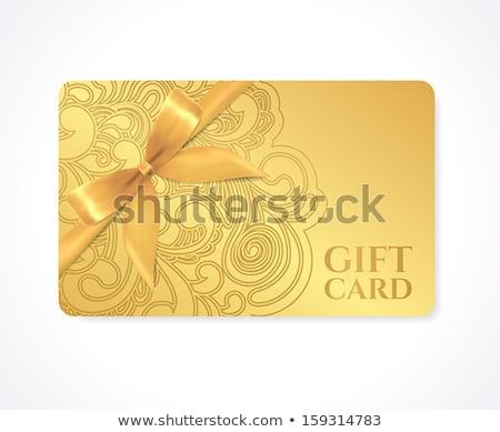 Floral Geschenkkarte Illustration weiß Blume abstrakten Stock foto © get4net