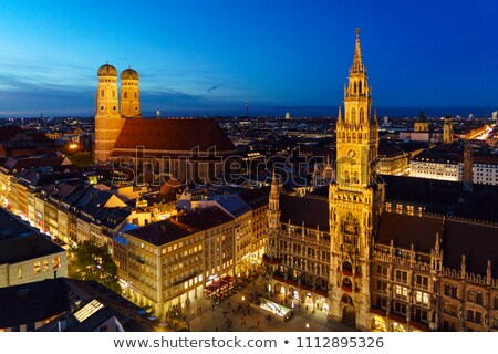 central tower of Neues Rathaus,   Marienplatz, Munich, Germany Stock photo © vlaru