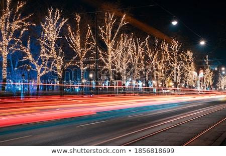 cidade · Natal · vetor · árvore · design · neve - foto stock © BibiDesign
