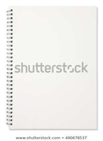 Nyitva oldalak notebook izolált fehér háttér Stock fotó © latent