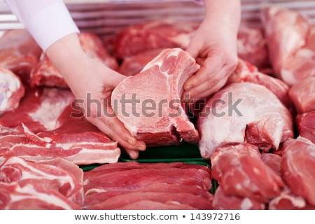 rundvlees · vrouwelijke · slager · heerlijk · vlees - stockfoto © inxti