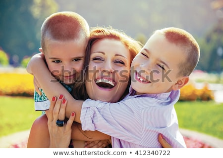 Mother and son laughing Stock photo © pekour