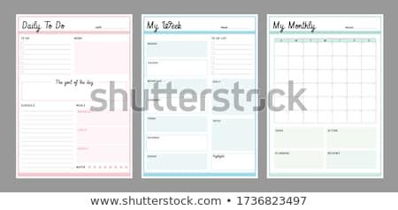 Dziennika strona dziennik gotowy tekst papieru Zdjęcia stock © cmcderm1