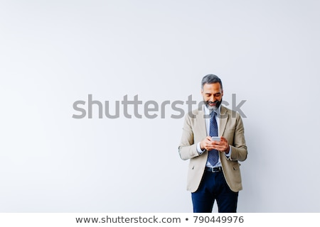 Foto stock: Homem · de · negócios · telefone · sucesso · empresário · chamar