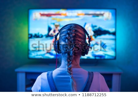 teenager with video game command Stock photo © photography33