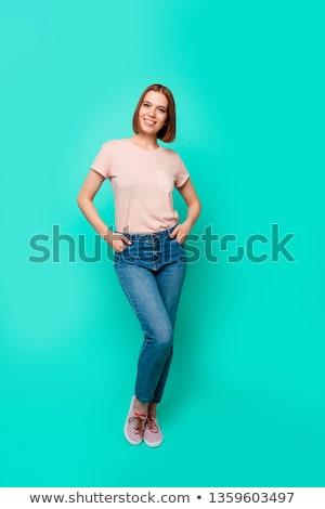 Oszałamiający kobieta fryzura dziewczyna twarz sexy Zdjęcia stock © photography33