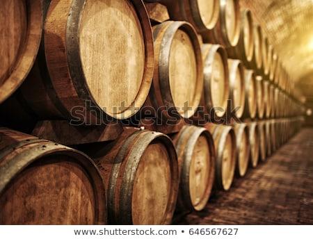 Wijn wijnkelder hout drinken donkere druif Stockfoto © slavick