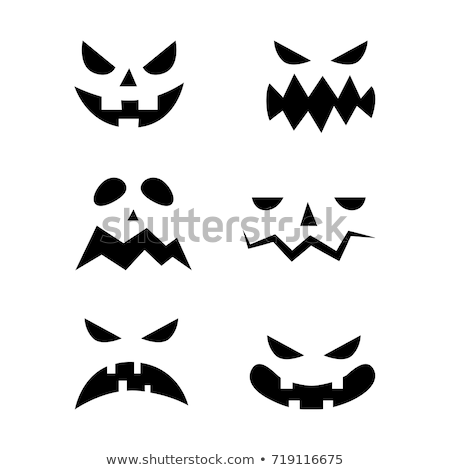 Diavolo zucca di halloween vettore artistico design arte Foto d'archivio © indiwarm