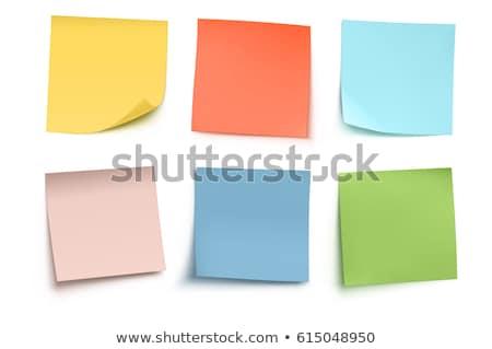 Verde memoria papel en blanco aislado blanco carta Foto stock © ozaiachin