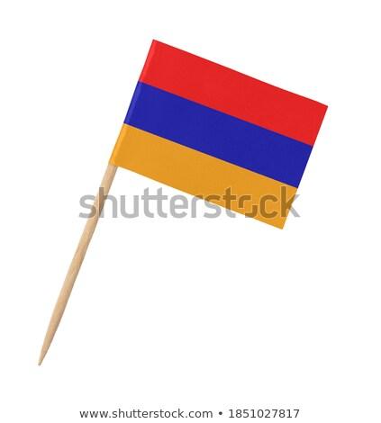 Minyatür bayrak Ermenistan yalıtılmış toplantı Stok fotoğraf © bosphorus