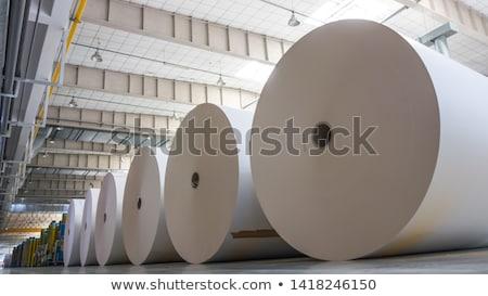 papier · d'emballage · blanche · ciseaux · cadeau - photo stock © carpeira10