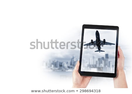 Pessoal avião cidade vintage imagem avião Foto stock © silent47