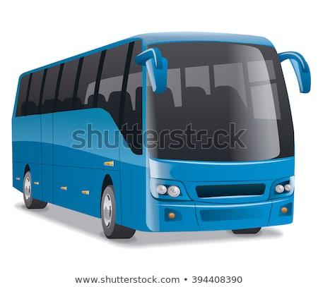 niebieski · miasta · autobus · trenerem · działalności · transportu - zdjęcia stock © leonido