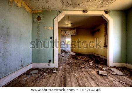 Stock fotó: Belső · elhagyatott · ház · préri · Saskatchewan · Kanada