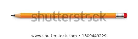 оранжевый карандашей линия белый назад землю Сток-фото © Sniperz