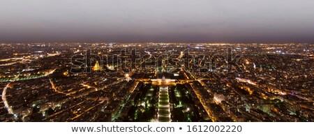 Panorama vue Paris nuit maison Photo stock © urbanangel