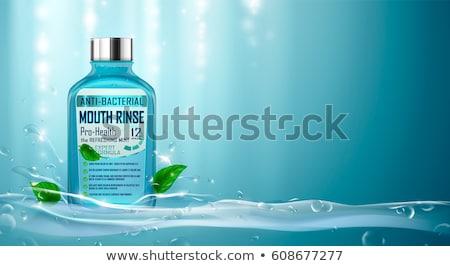 Refreshing green watery background Stock photo © lightpoet