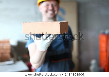 Artesano ladrillo mano pared industria Foto stock © photography33