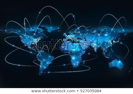 世界中 · フラグ · エジプト · 青 · 孤立した · 白 - ストックフォト © idesign