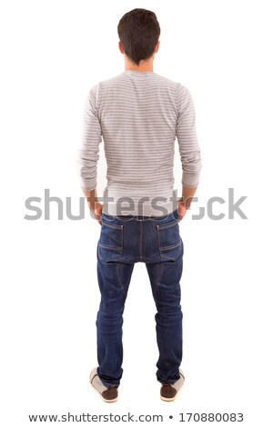 Rear view of teen guy in casuals Stock photo © stockyimages