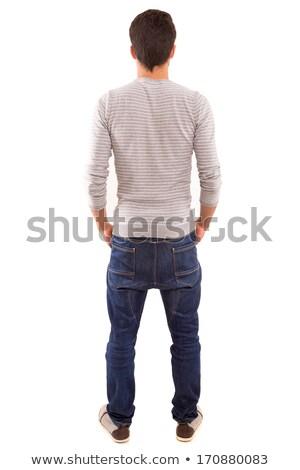 hátsó · nézet · tini · fickó · teljes · alakos · portré · férfi - stock fotó © stockyimages