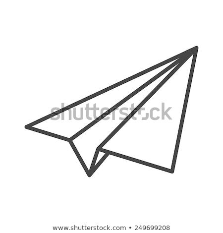 branco · papel · aviões · isolado · vetor · conjunto - foto stock © tuulijumala