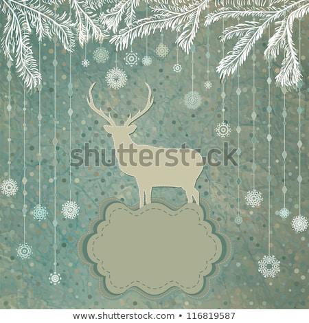 Résumé Noël eps espace amusement rouge Photo stock © beholdereye
