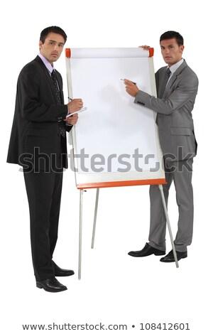 pénzügyi · eredmények · menedzserek · megbeszél · üzlet · iroda - stock fotó © photography33