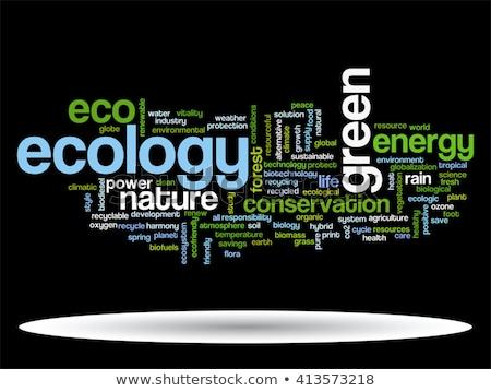 Foto stock: Ecologia · verde · palavra · cor · texto