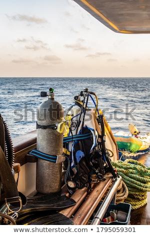 Oxigén búvárkodik tengerpart sport fém sportok Stock fotó © haraldmuc