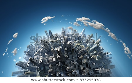 город сфере мира 3D зданий вокруг Сток-фото © eyeidea