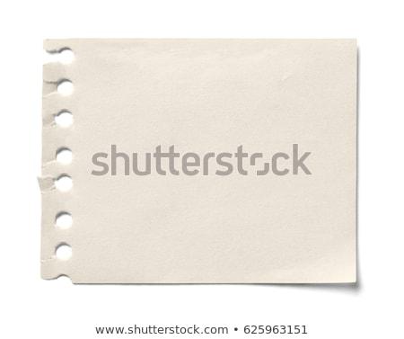 Közelkép citromsárga levélpapír fehér iroda papír Stock fotó © Zhukow
